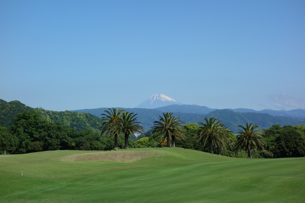 View of Fuji mountain from the course