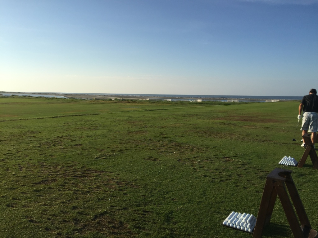 View from driving range