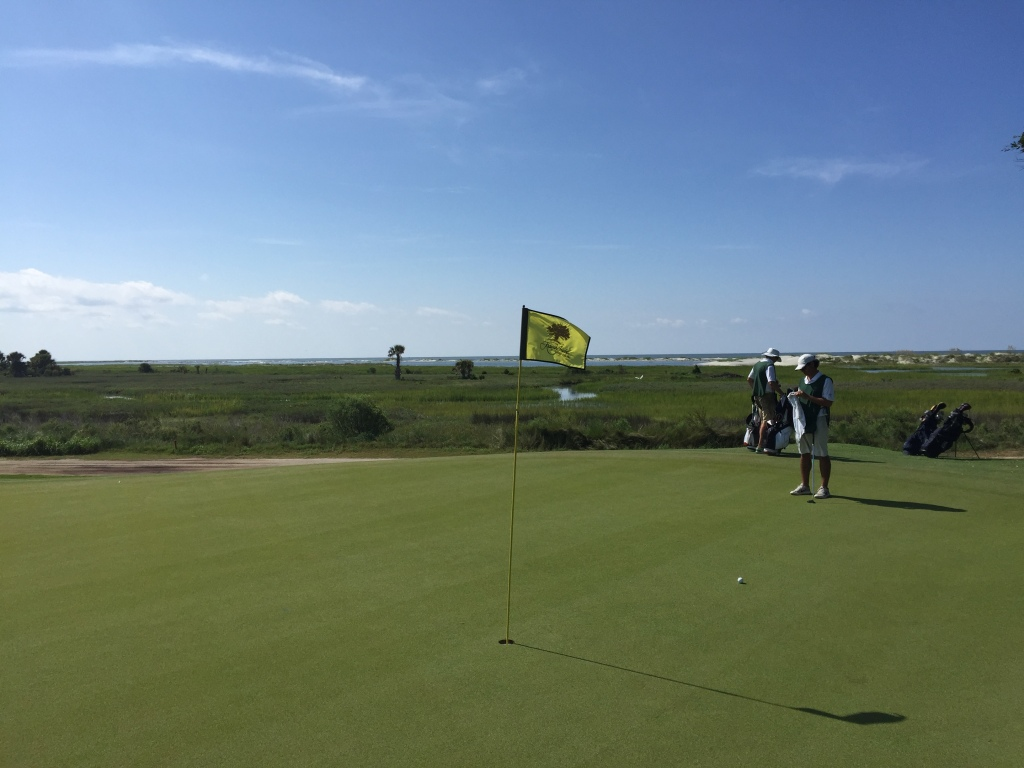View from 9th green