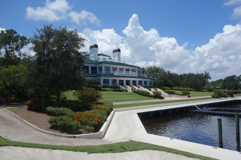 Clubhouse with the private harbour in front