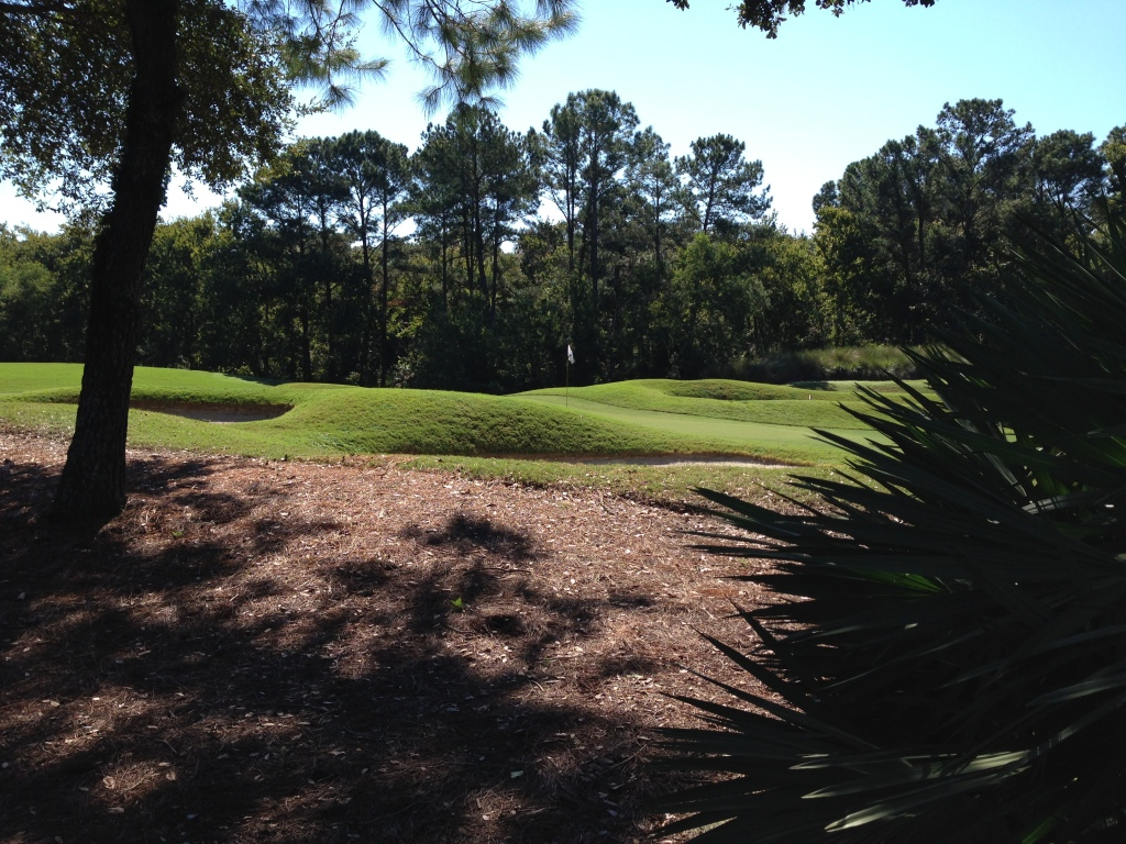 9th green where you see the undulating architecture