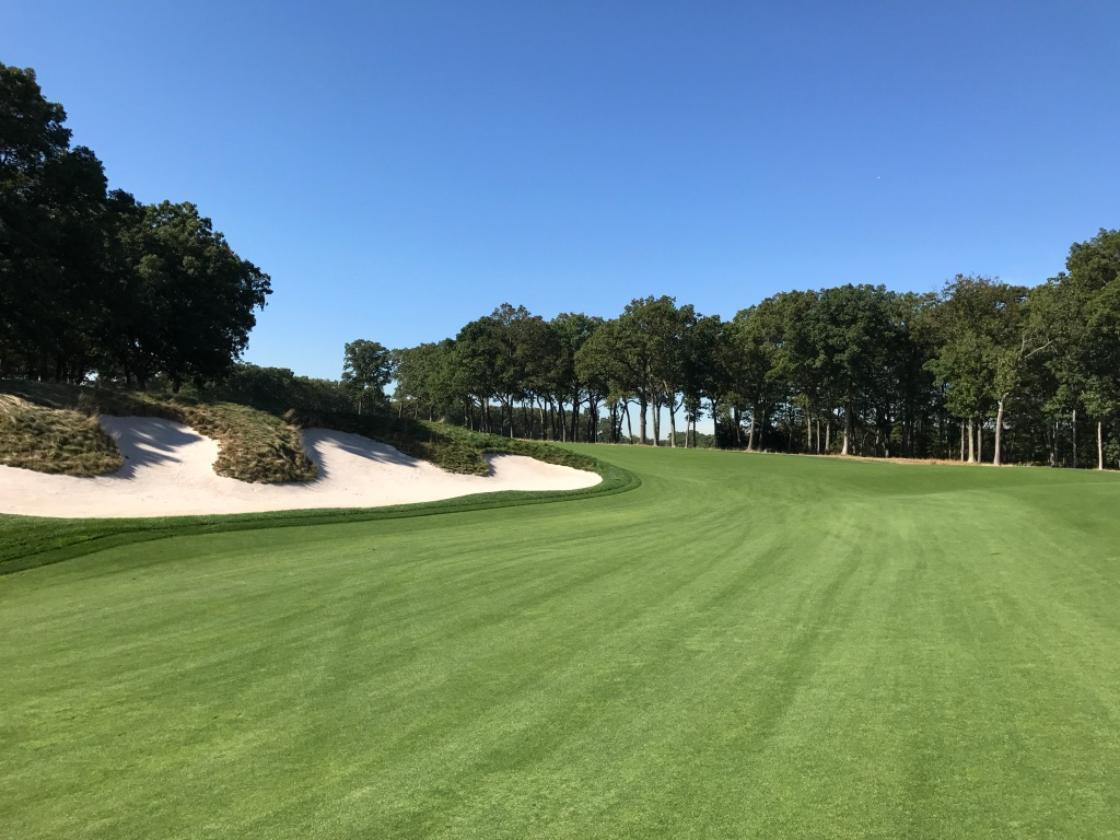 big bunker on 9th hole