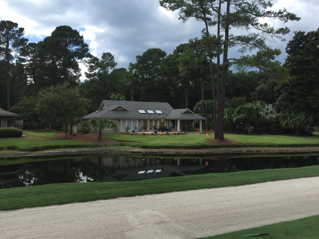 Houses running up 8th hole