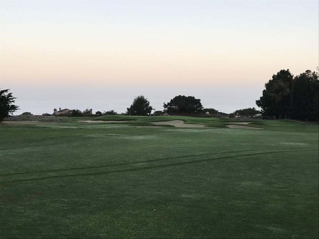 approach to 1st green
