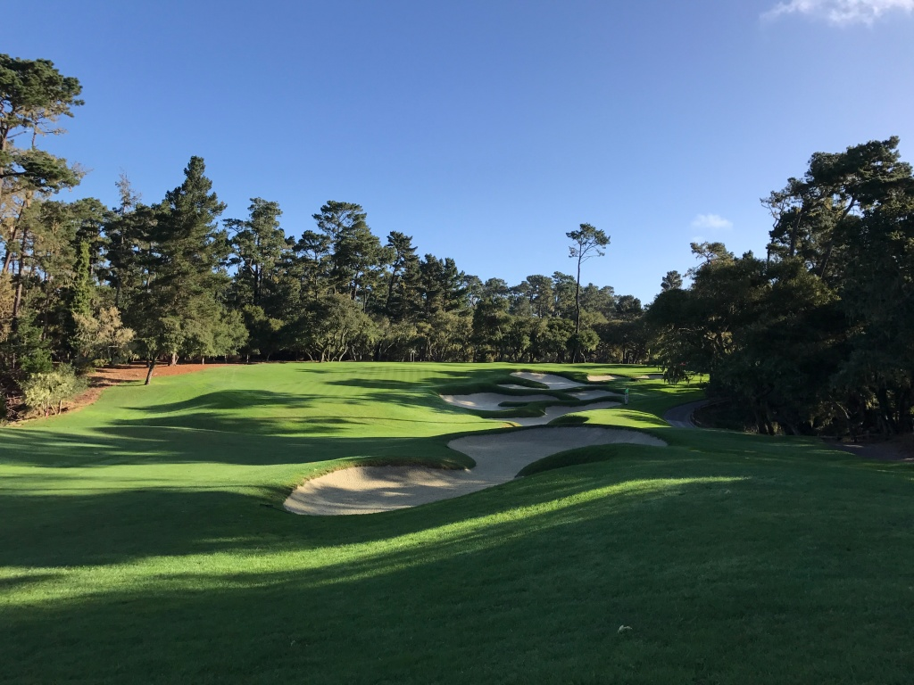 well bunkered approach to 11th