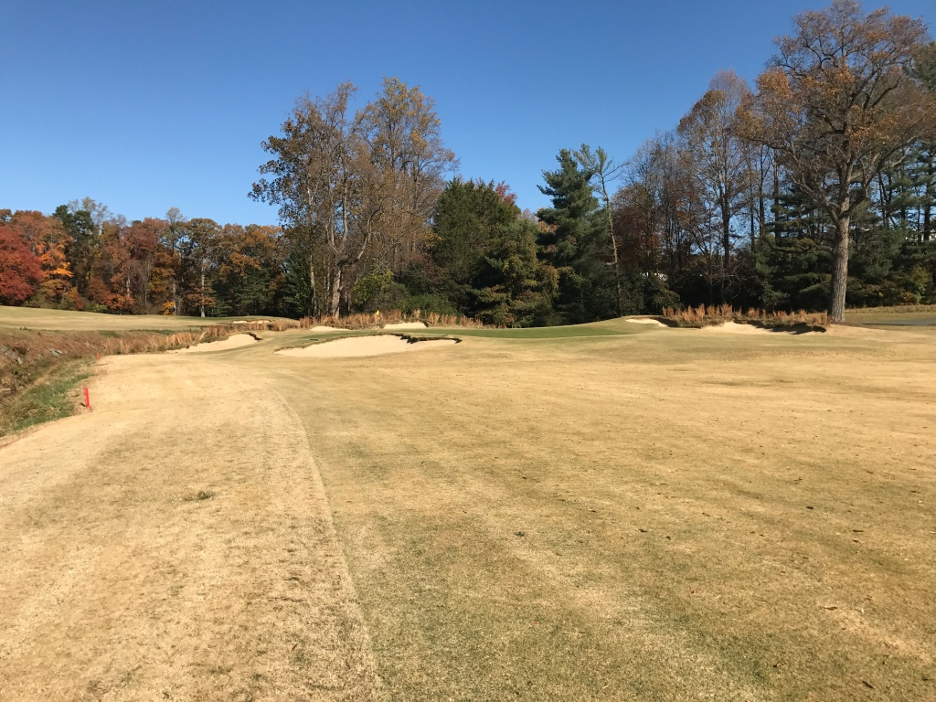15th green, the toughest par 3 on the course